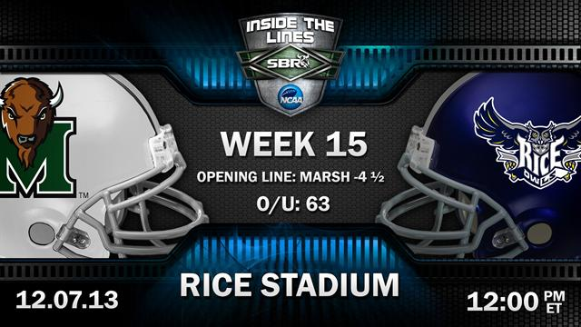 College Football Picks: Marshall Thundering Herd vs. Rice Owls