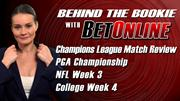 NFL Week 3, College Football Week 4, Champions League Matches 2013 Sharp Betting Action: Behind the Bookie