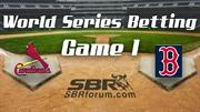 2013 World Series Game 1 Preview: Boston Red Sox vs St Louis Cardinals Pick And Betting Value