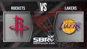 Rockets vs Lakers | Apuestas Deportivas | NBA